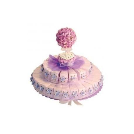 presentoir violet + 45 boîtes à dragées