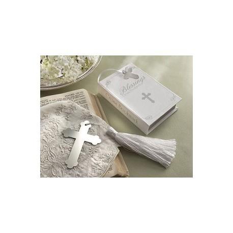 «Bénédictions» Croix d'Argent Papier point avec pompon