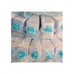 Set 45 boîtes cône bleu décorées