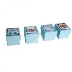 Ensemble de 24 Baby Blue assortis Boîtes.