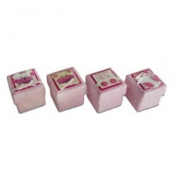 Set de 24 boîtes assorties Roses bébé.