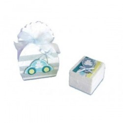 33 boîtes bébé bleues