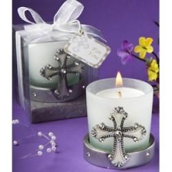 Bougie de communion croix