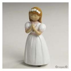 Figure Communion Gâteau fille de 15 cm