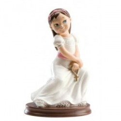 Figurine gateau de communion fille