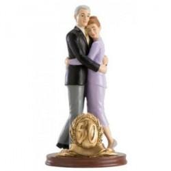 Figure de mariage Gâteau50 d'anniversaire
