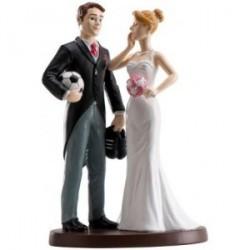Figure gâteau de mariage football