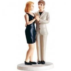 Figure gâteau de mariage les filles