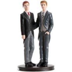 Figure gâteau de mariage les garçons