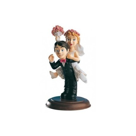 Figure gâteau fiancés heureux de 16 cm