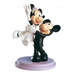 Figure Gâteau Fiancés Mickey & Minnie Just Married