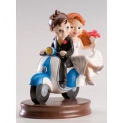 Figurine gâteau de mariage Vespa