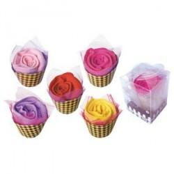 Serviette Rose en boîte cadeau