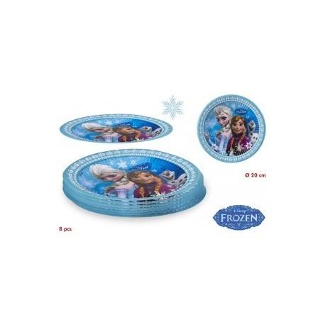 pack 8 assiettes Reine des Neiges