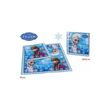 Lot De 20 serviettes Reine des Neiges