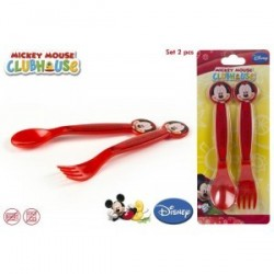Lot de 2 couvert en PVC Mickey