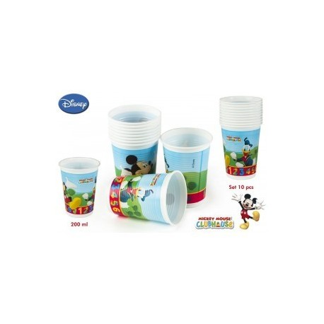 Pack de 10 gobelets Mickey 200ml