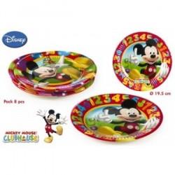 8 Assiettes en carton Mickey