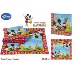 Lot De 20 serviettes Mickey