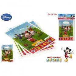 8 sacs pour les fêtes d'anniversaire Mickey