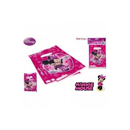 8 sachets pour les fêtes d'anniversaire Minnie.