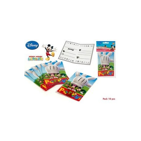 10 invitations Mickey Mouse