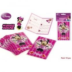 10 Invitations Minnie 10