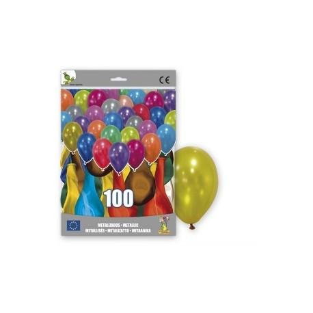 100 ballons couleurs métalliques