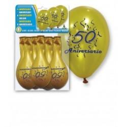 """8 septembre Argent Ballons """"50e anniversaire"""""""