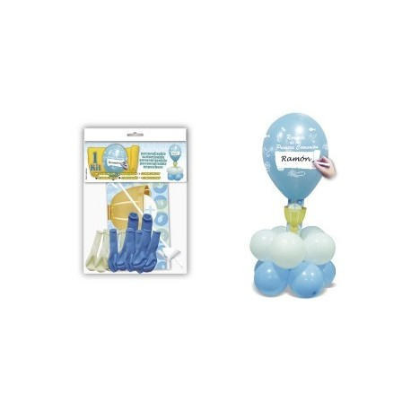 "Kit ballons ""Communion"" Bleu"