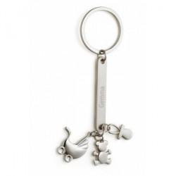 """Porte-clef en métal """"Nouveau né"""""""