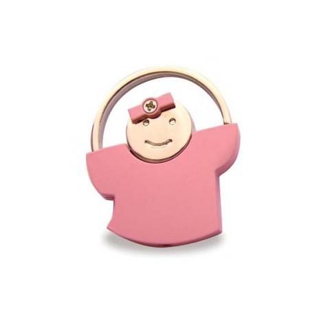 Métal Porte-clés Rosa comme un enfant.