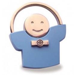 """Métal Porte """"Bleu"""" comme un enfant."""