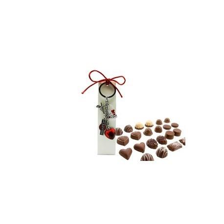 Porte-clés dans la case Fashion avec des chocolats.