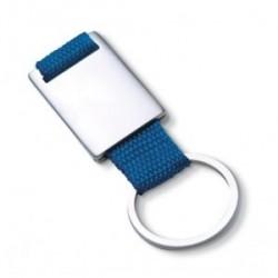 Porte-clés rectangulaire en métal bande de couleur