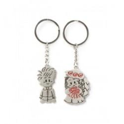 Set 2 Porte-clés Lovers en métal