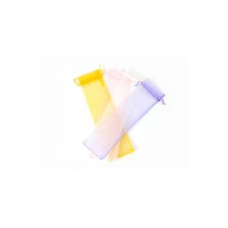sac d'organza pour éventails 7 x 30 cm