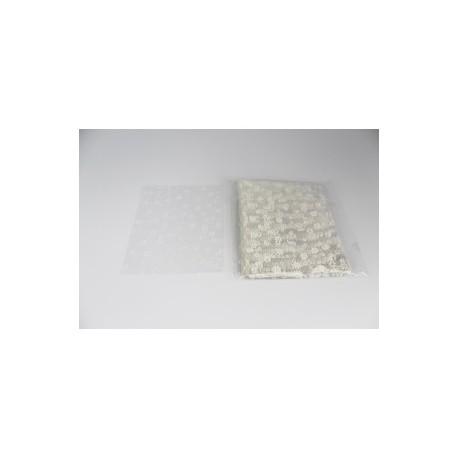 Lot 100 Sacs Cellophane avec fleurs 11 x 15 cm