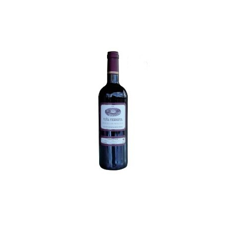 """Bouteille de vin rouge de 37 cl. Vin vielli 2006 """"Vermets Viña""""."""