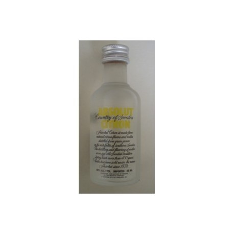 Absolut Vodka Liqueur Citron Miniature