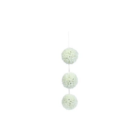 3 Balles Textile décoration fleur Evénements