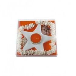 Bougeoir en céramique décoré
