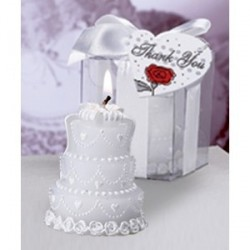 Bougie en forme de gâteau de mariage