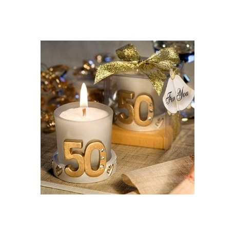 50e anniversaire de mariage de bougie