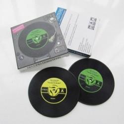 """2 sous-verres """"vinyl"""" en PVC"""