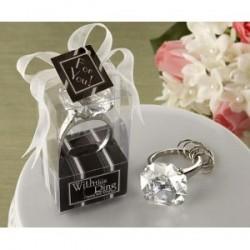 """Porte-Clé bague """"Diamant"""""""