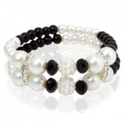 "Bracelet de perles ""Black"""