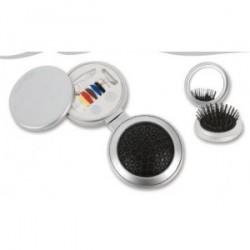 Brosse à cheveux pliable avec miroir