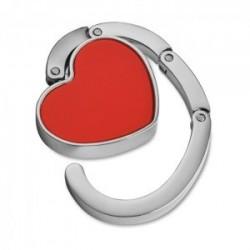 Accrocher des sacs pliables brillant coeur rouge