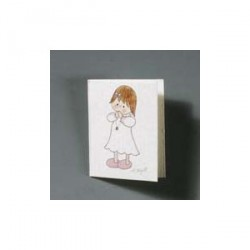 Lot 100 pcs. Carte fille priant